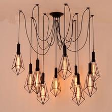 купить Vintage Spider pendant lights luminaire lamp Loft E27 Industrial Lighting Retro Loft Hanging Suspension Fixtures Home 110V 220V по цене 2568.77 рублей