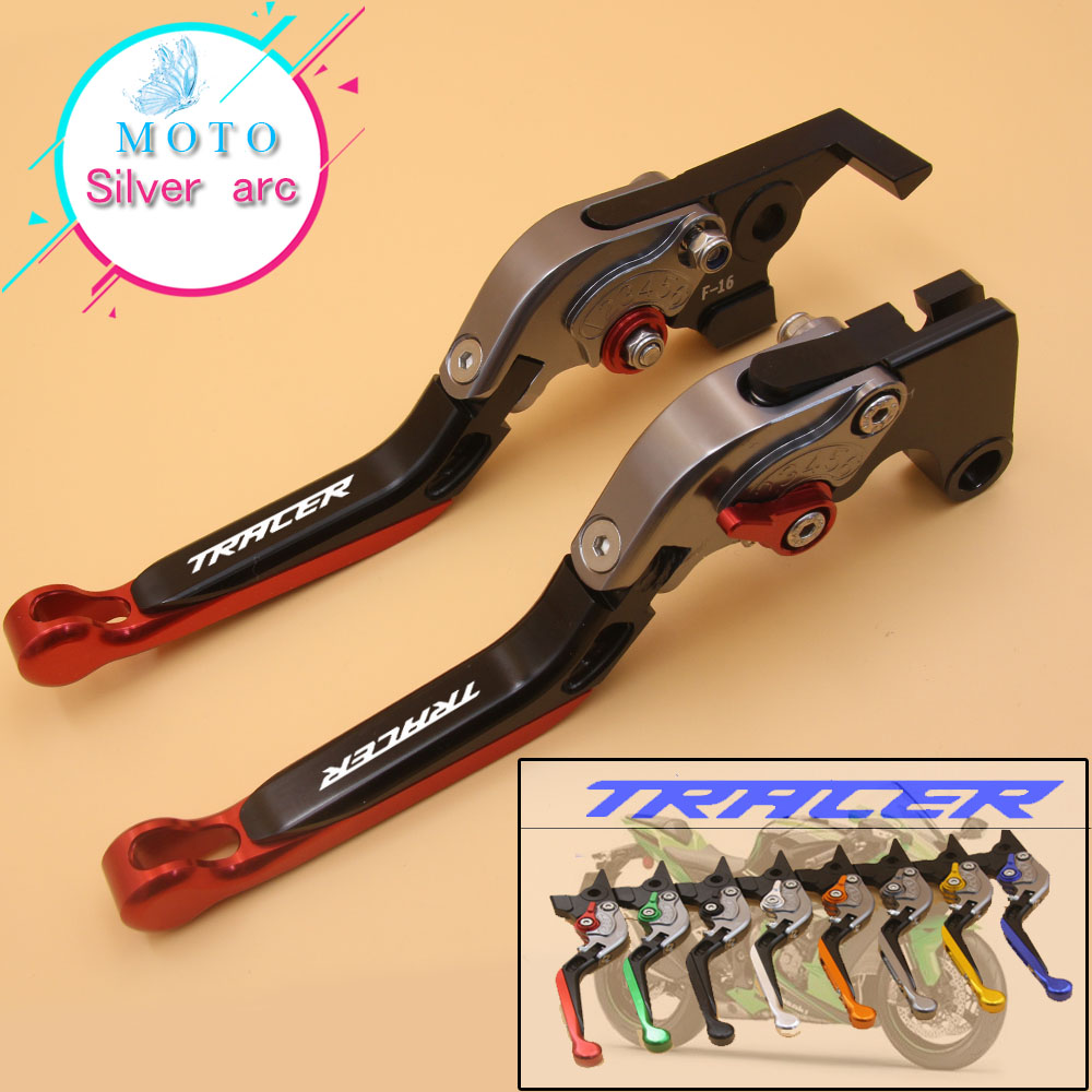 Logo(TRACER) Motorcycle Brake Clutch Levers For Yamaha MT09 MT-09 MT 09 MT-07 MT 07 MT07 TRACER 2014 2015 2016 3d motorcycle adjustable folding brake clutch lever for yamaha mt 07 mt07 mt 07 2014 2015 mt 09 mt09 mt 09 2014 2015 fz1 fz1n