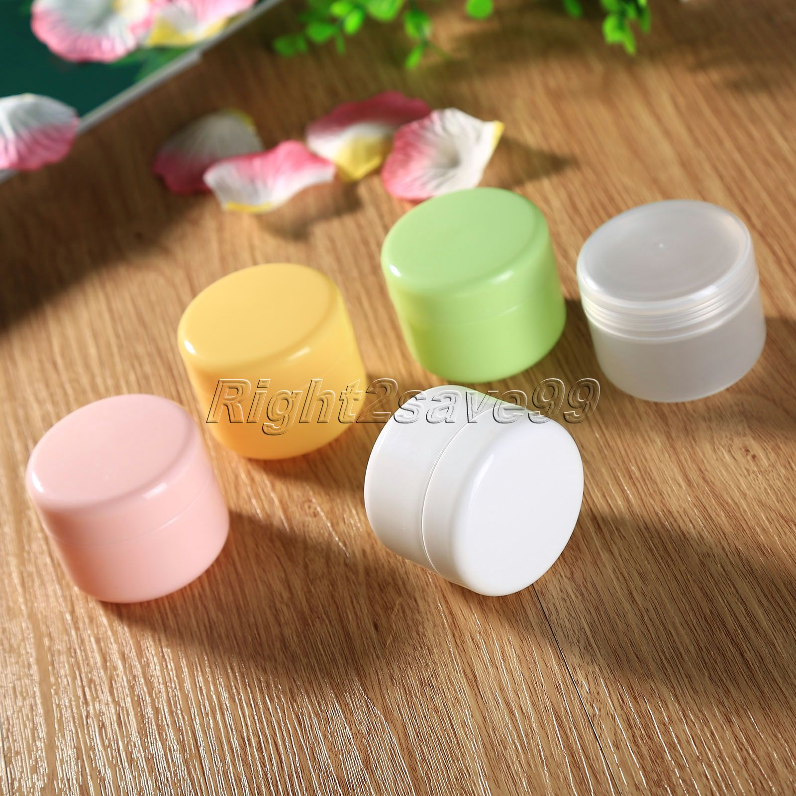 5Pcs/Lot 50ml 50g Colorful Face Cream Jars Pot Travel Plastic Empty Cosmetic Containers 50ml Cosmetic Sample Containers 100 pcs lot of small glass vials with cork tops 1 ml tiny bottles little empty jars