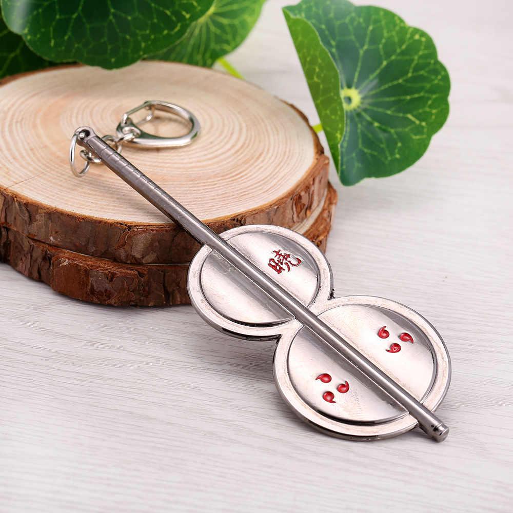 אנימה נארוטו Akatsuki מחזיקי מפתחות Uchiha Madara מפתח שרשרת תליוני מזכרות קוספליי אבזר איור צעצועי בובת מתנה