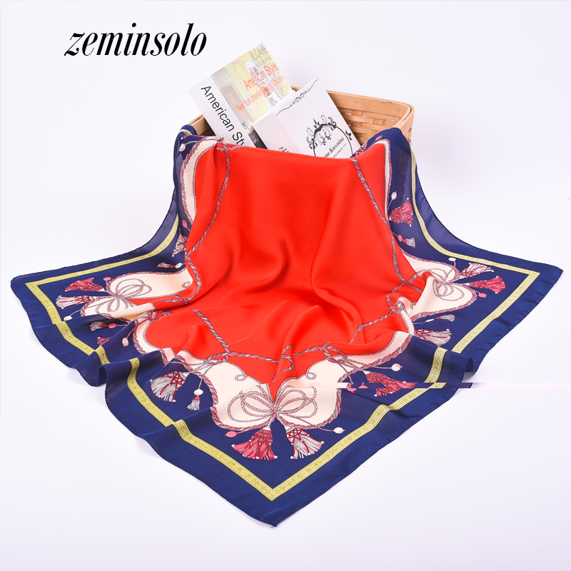 Hot Sale Fashion Women's <font><b>Scarf</b></font> Spring Fashion <font><b>Scarves</b></font> For Women Thin Soft Chiffon <font><b>Silk</b></font> Shawl Leaf Print Shawl <font><b>Scarves</b></font> 70*<font><b>70cm</b></font> image