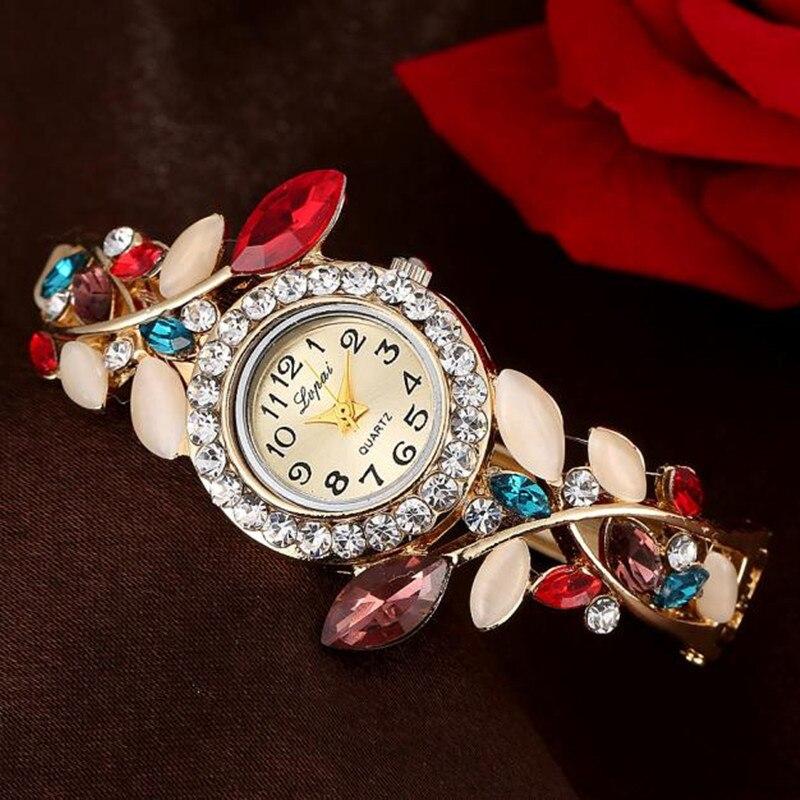 dce6e97bb6e0 Comprar Reloj de pulsera de cristal colorido Lvpai para mujer reloj de  pulsera de moda Vintage para mujer reloj de vestir Casual reloj de regalo  reloj ...