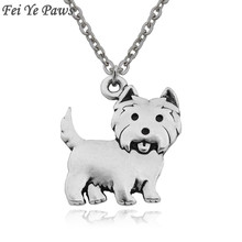 c7b869198 Punk Westie Dog Charms Pendant Necklace Colar Boho Animal Women Men  Necklaces Best Friend Gifts Collar Stainless Steel Chain