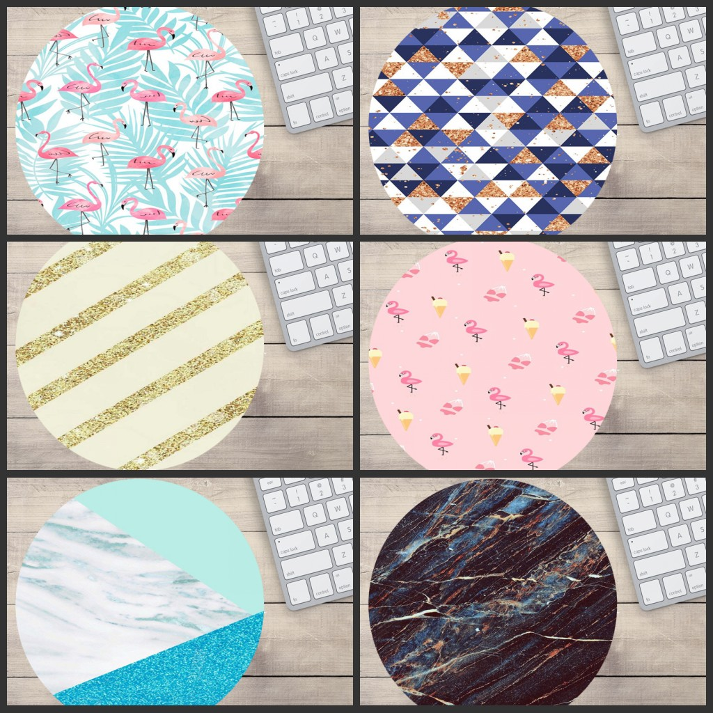 Mairuige Big Promotion Rainbow Pastel Watercolor Moroccan Marble Painting Mice Mat PC Computer Gaming Speed Round Mouse Pad wallet