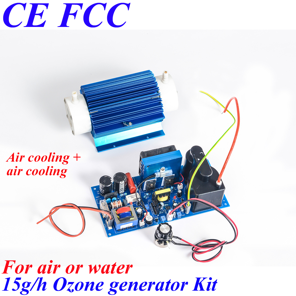 Pinuslongaeva CE EMC LVD FCC 15g/h Quartz tube type ozone generator Kit industrial ozone generator ozone for washing machine ce emc lvd fcc ozone quartz suite for ozone generator