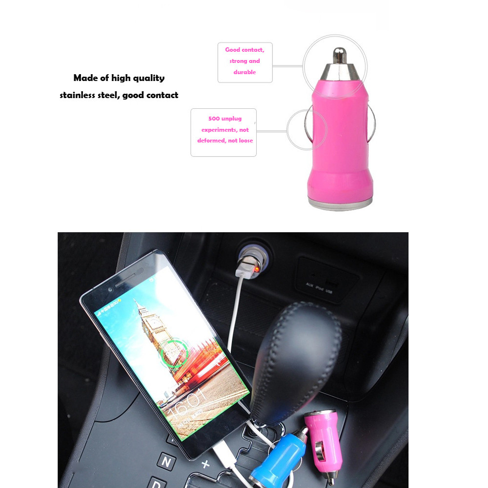 Hot Sale Product Mini Car Charger USB Charger Adapter for IPOD for Blackberry USB Charging Battery Universal Phone Charger