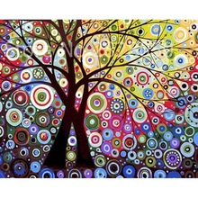 Colorful Abstract Tree Frame Canvas Picture By Numbers DIY Picture Oil Painting On Canvas For Home Decor Modern Art