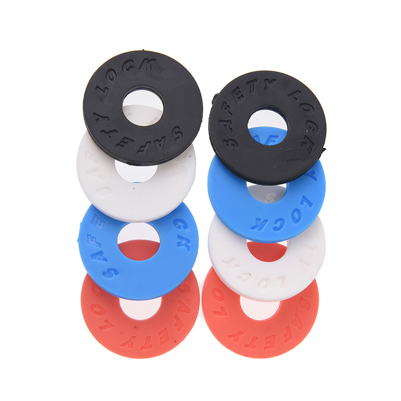 2pcs New Guitar Strap Block Rubber Safety Lock Washer