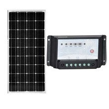 TUV Pannello Fotovoltaico 100w 12v Solar Charge Controller 12v/24v 20A Rv Battery Charger Autocaravanas Caravan Camp