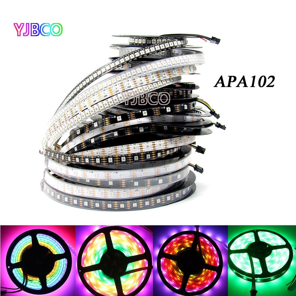 APA102 1m/5m Full Color 30/36/60/96/144 leds/m Pixel 5050 IP30/IP65/IP67 LED RGB Strip SK9822 backlight tv lights CLK DAT 5V 10 pcs rgb led strip 5050 leds 1m 60 leds flexible led lights home decoration