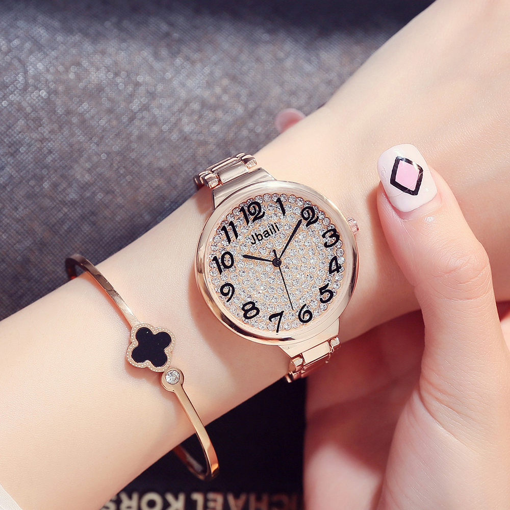 2018 New Women Stainless Steel Rose Gold Watches Top Brand Luxury Ladies Casual Crystal Watch Woman Dress Clock Relogio Feminino 2016 new brand gold grid crystal casual quartz watch women stainless steel dress watches relogio feminino silver clock hot sale