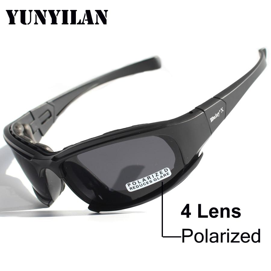 Prix pour Tactique Daisy X7 Lunettes Militaire Armée Lunettes lunettes de Soleil Avec 4 Lentille Hommes Tir Lunettes Lunettes UV400 lunettes de Soleil Polarisées
