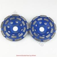2pcs 115mm Diamond Double Row Cup Wheel For Granite Hard Material Diameter 4inch Grinding Wheel Bore