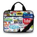 Notebook Laptop Sleeve Холст Сумка Сумка Для iPad Macbook Tablet PC 13 14 15 15.6 17 дюймов женская мужская дети