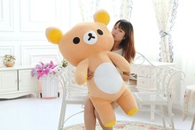 stuffed toy huge relax bear Rilakkuma bear plush toy hugging pillow ,Christmas gift h156