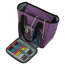 Чехол для переноски для вязания «сделай сам», переносная сумка для хранения вязальной пряжи с несколькими карманами, сумка для вязания спицами