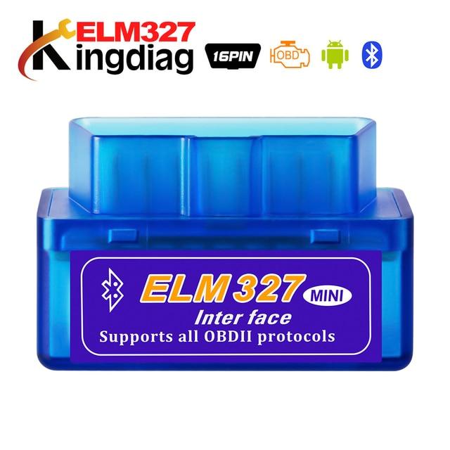 Мини ELM327 Bluetooth 2,0 Интерфейс V2.1 OBD2 OBD 2 Авто диагностический инструмент ELM 327 работает на Android Крутящий момент/ PC v 2,1 адаптер BT