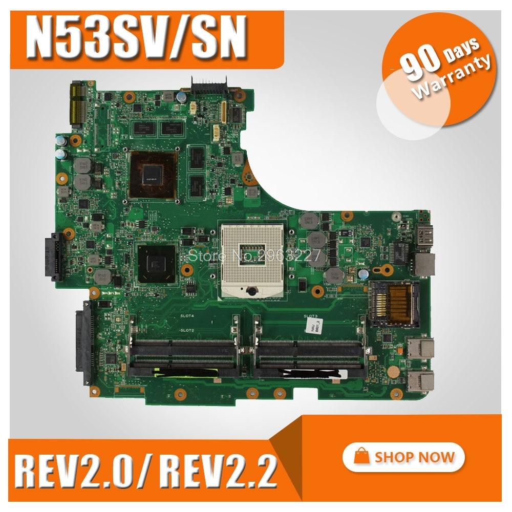 N53SV Motherboard GT550M 2G DDR3 rev2.0/2.2 4 RAM For ASUS N53S N53SN N53SM Laptop motherboard N53SV Mainboard N53SV Motherboard n53sv motherboard rev 2 2 gt540m ram for asus n53s n53sv n53sn n53sm laptop motherboard n53sv mainboard n53sv motherboard 100
