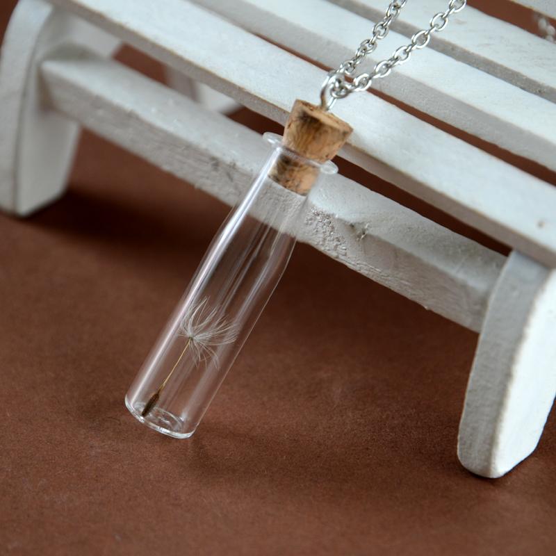 Stunning Cylinder bottle shape Vial Necklace
