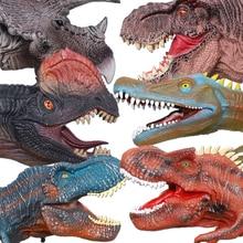 Пластик динозавров руку куклы игрушки мягкие виниловые ПВХ животных «Мир Юрского периода» Игрушки для детей Dinosaurios де Juguete