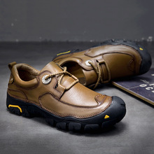 Outdoor sport camping Climbing travel hiking Shoes sneakers for men Genuine Leather hunting trekking Hiking Shoes Men Sneakers cow leather sport outdoor shoes men genuine leather hiking shoes mountain climbing shoes trekking shoes men walking sneakers men