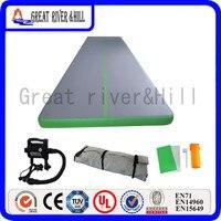 Великие реки Hill тренажерный зал коврик надувной воздуха трек хорошая эластичность зеленый 8 м x 1.8 м x 10 см