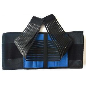 Image 3 - Kadın erkek sırt duruş desteği kemer elastik sırt kemer geri Brace destek lomber Brace bel korse büyük boy XXXL XXXXL Y010