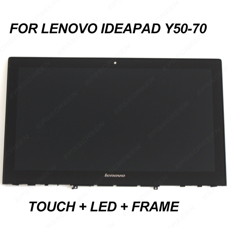 replace for Lenovo Y50 70 Lcd panel Touch Screen Digitizer Bezel frame 15 6 FHD 30