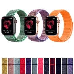 Sport Nylon Strap für Apple Uhr Band 40mm 44mm Strap Für iWatch Serie 1 2 3 4 Bunte ersatz Uhr Bands 38mm 42mm