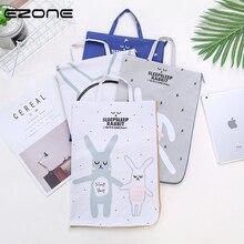 EZONE cUTE Cartoon File Bag Kawaii Rabbit Printed Document Bag Larger Simple Oxford Cloth Documents Folder School Office Supply