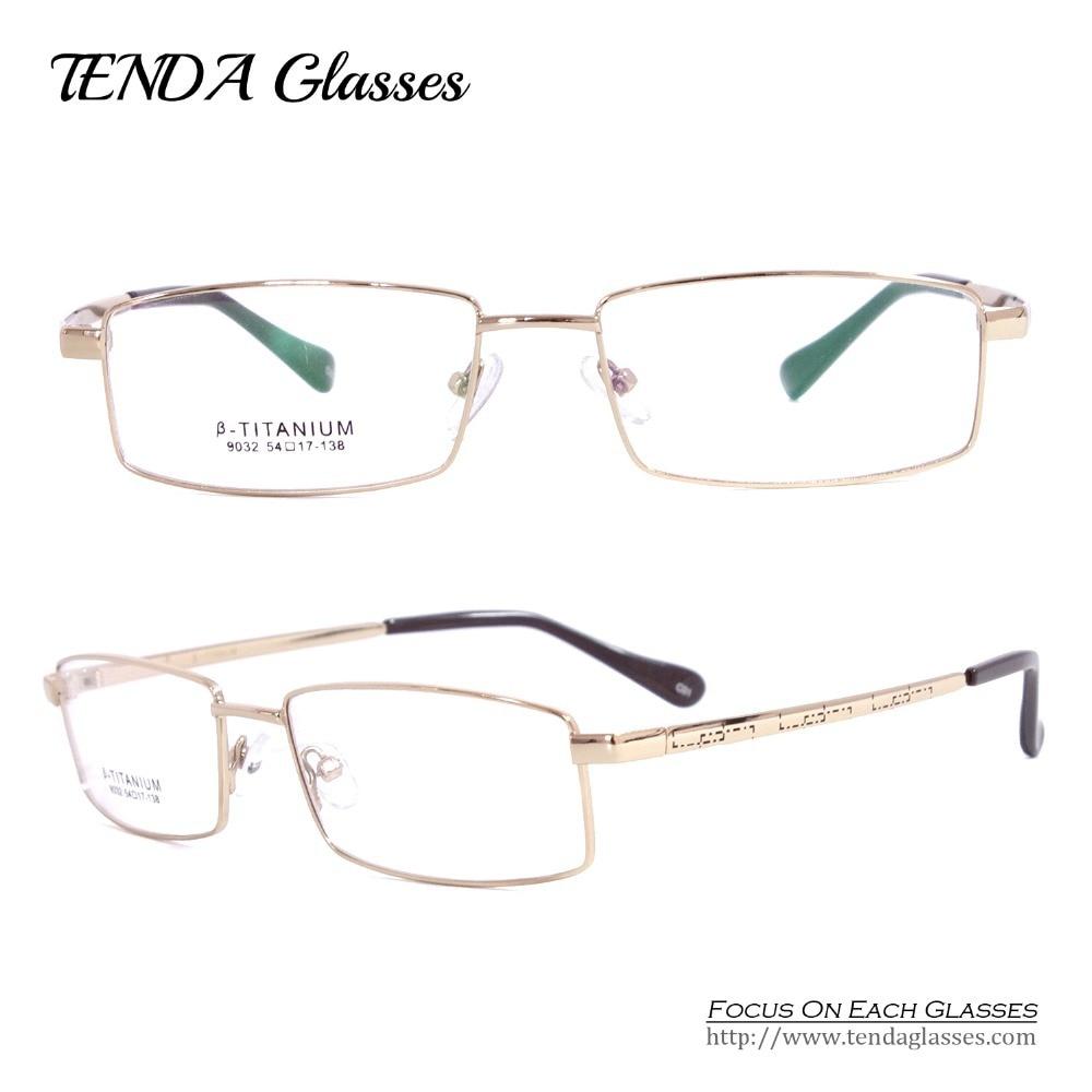இFlexible titanio enmarca Gafas hombres gafas para leer y lente ...
