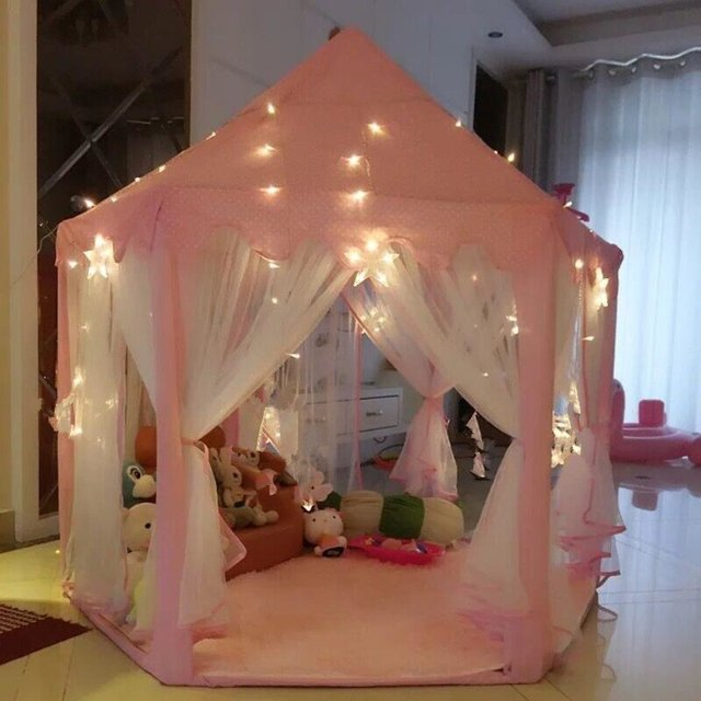 Kid Tents Part - 35: Dalos Dream Castle Kid Tent Playhouse Pink Princess Kid Tent Kids Teepee  Indoor Toy Baby Room