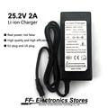 Verdadeiro 25.2 V 2A/Li-ion Carregador de 24 V 2A AC 100-240 V Converter Plug Adapter UE e EUA plug Para Bateria Li-ion.