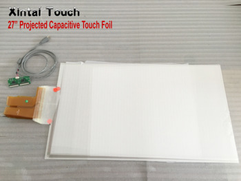 "Xintai Touch Real 4 points 27"" Multi touch foil film Multi-touch foil side tail"