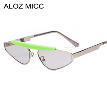 ALOZ MICC New Cat eye Sunglasse Women Fashion Ladies Metal Frame Sun Glasses Men Shades Black Red Blue Trend Eyewear Q676