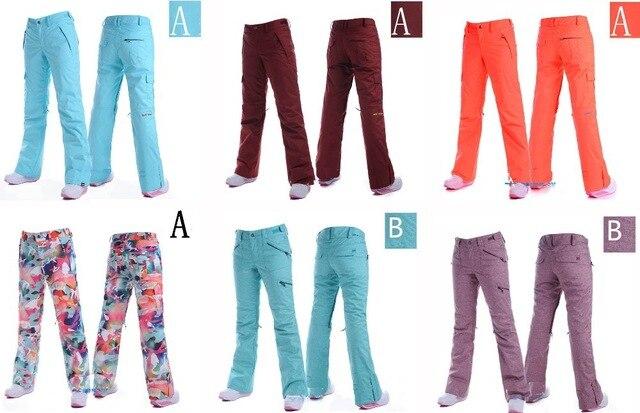 Высокое качество лыжные брюки гладкие и Ковбой модель B 10К сноуборд брюки Водонепроницаемый Ветрозащитный теплый снег брюки фиолетовый/Comouflage