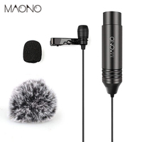 MAONO Lavalier professional condenser Microphone Omnidirectional microfon for ZOOM Camcorders with Tie Clip and Windscreens rode