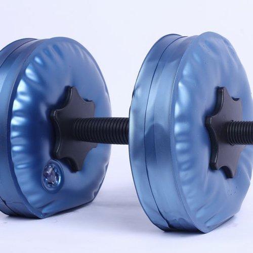 Горячая Регулируемая наполненная водой гантель фитнес Тренажерное Оборудование портативное похудение тренировки мышц CE ROHS сертифицировано - Цвет: Синий
