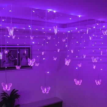 Multicolor Butterfly LED String Strip Holiday Christmas Lights Garlands 3.5m 100 SMD EU/US/UK/AU PARTY Wedding Lamp 110V/220V
