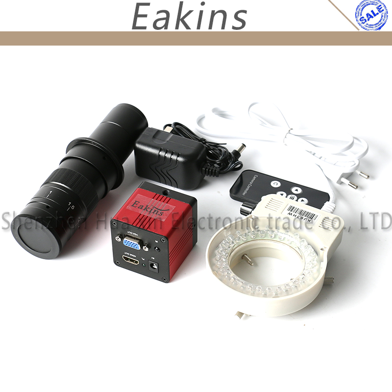 1080 P 1/2. 7 60f/S HDMI VGA цифровой индустрии видео микроскоп Камера ИК-пульт дистанционного управления + 180x/300X c -Крепление объектива + 56 светодиодный...