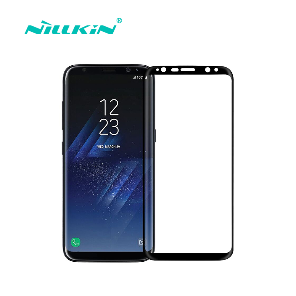 imágenes para Protector de pantalla de nillkin para samsung galaxy s8 totalmente cubierta cp + max 3d borde redondo delgado para samsung s8 táctil de cristal templado 5.8''