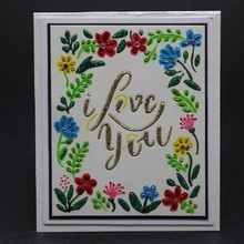 FeLicearts love rectangle dies for cutting frame scrapbooking albulm photo decorative stamps and valentine day