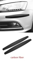 Qirun Car body door plate strips protection for Volkswagen Passat B6 R3 front and rear anti scratch silicone bumper strip