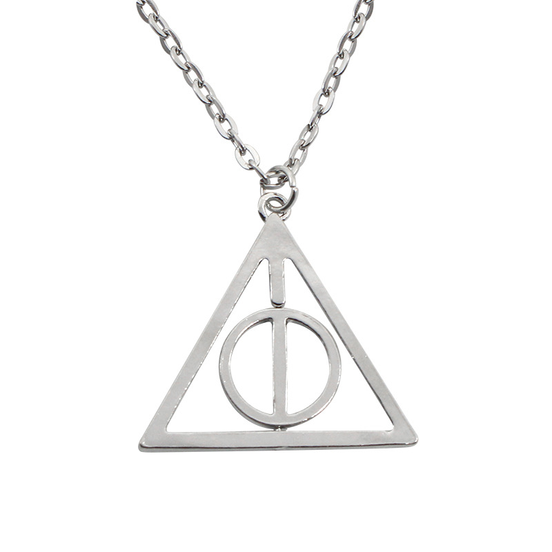 Fworld Popular Harry The Deathly Hallows Necklaces Small Circles Can