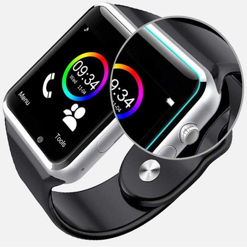 Sem fronteiras a1 bluetooth relógio inteligente esporte apoio chamada música 2g com sim tf câmera smartwatch para android pk iwo 8 dz09 gt06 5