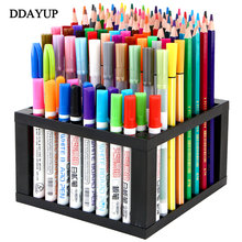 Multi functional removal pen holders 96 holes storage box pencil