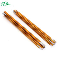 2pcs/set 3.6M*2 Tent Rod Aluminium Alloy Outdoor Camping Tent Pole Spare Replacement Tent Support Poles Tent Accessories