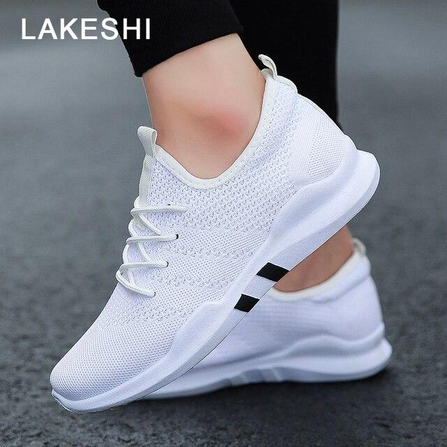 Men Casual Shoes Men Sneakers Breathable Fashion Men Shoes Slip On Walking Shoes White Sneakers Male Shoes Solid Men Footwear