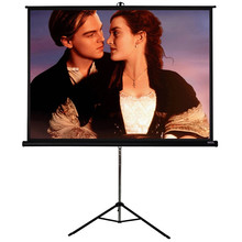 "60"" Tripod Projector Display may be indifferent from the leg in four:three format Cell presentation moveable tripod display"