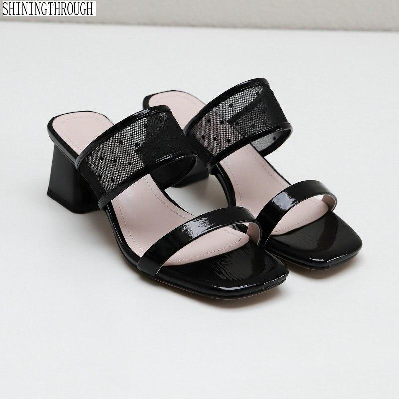 Women slippers High Heel shoes woman summer Comfort Wedding Dress Shoes Woman sandals large size 34